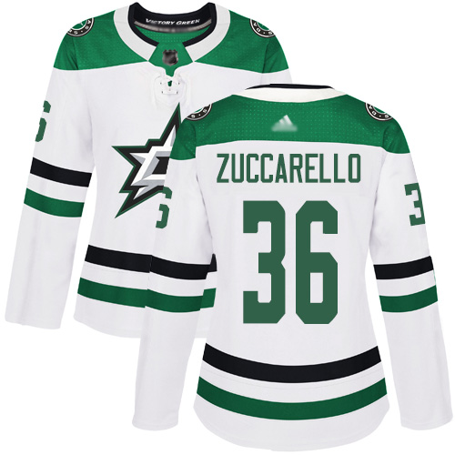 Adidas Stars #36 Mats Zuccarello White Road Authentic Women's Stitched NHL Jersey
