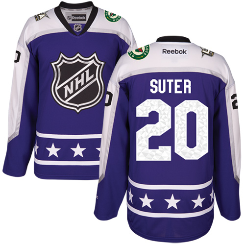 Wild #20 Ryan Suter Purple 2017 All-Star Central Division Women's Stitched NHL Jersey