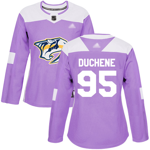 Adidas Predators #95 Matt Duchene Purple Authentic Fights Cancer Women's Stitched NHL Jersey