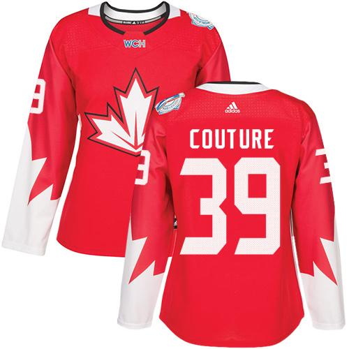 Team Canada #39 Logan Couture Red 2016 World Cup Women's Stitched NHL Jersey