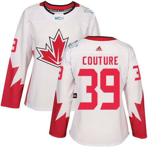 Team Canada #39 Logan Couture White 2016 World Cup Women's Stitched NHL Jersey
