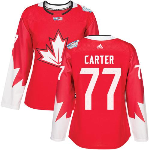 Team Canada #77 Jeff Carter Red 2016 World Cup Women's Stitched NHL Jersey