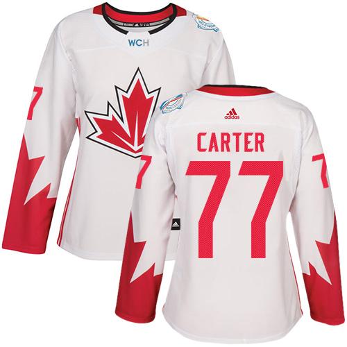 Team Canada #77 Jeff Carter White 2016 World Cup Women's Stitched NHL Jersey