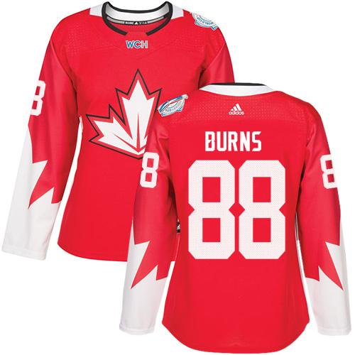 Team Canada #88 Brent Burns Red 2016 World Cup Women's Stitched NHL Jersey