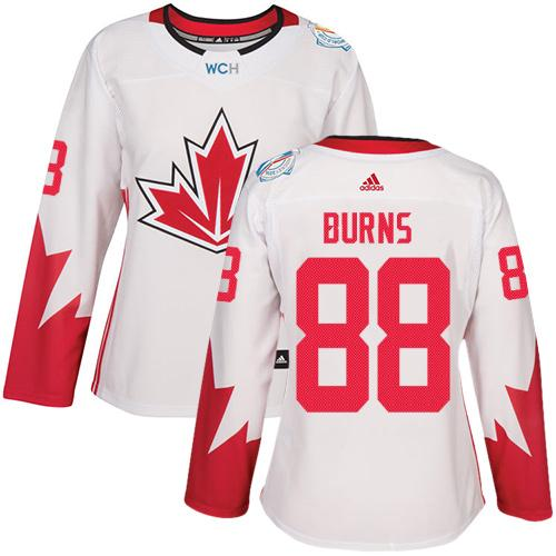 Team Canada #88 Brent Burns White 2016 World Cup Women's Stitched NHL Jersey