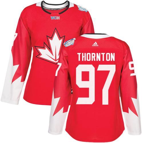 Team Canada #97 Joe Thornton Red 2016 World Cup Women's Stitched NHL Jersey