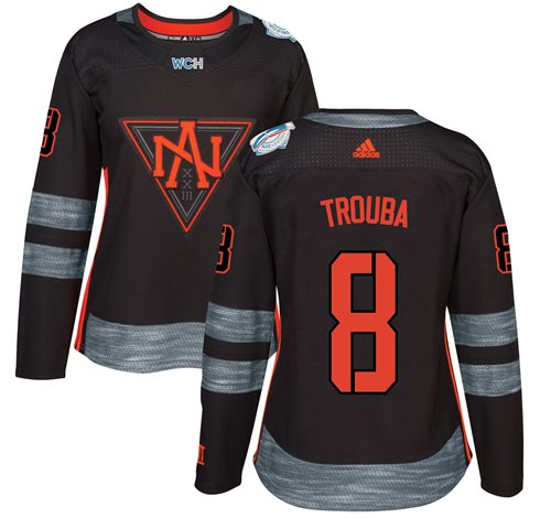 Team North America #8 Jacob Trouba Black 2016 World Cup Women's Stitched NHL Jersey