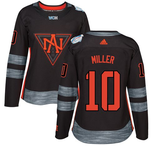 Team North America #10 J. T. Miller Black 2016 World Cup Women's Stitched NHL Jersey