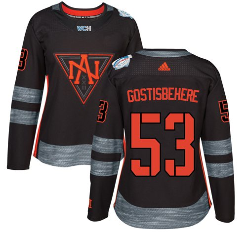 Team North America #53 Shayne Gostisbehere Black 2016 World Cup Women's Stitched NHL Jersey