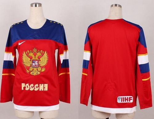Team Russia Blank Red 2014 Women's Stitched NHL Jersey