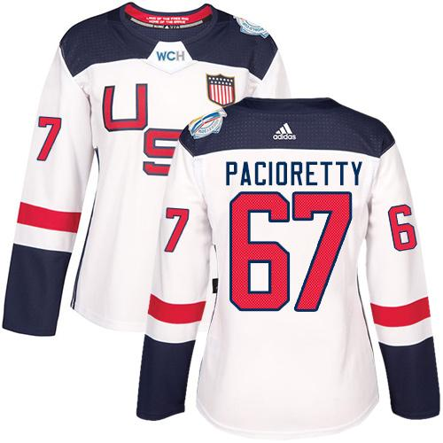 Team USA #67 Max Pacioretty White 2016 World Cup Women's Stitched NHL Jersey