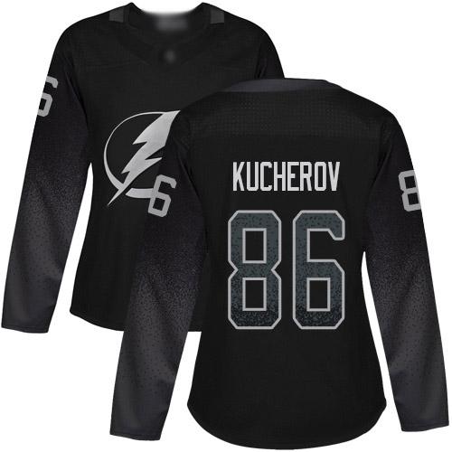 Adidas Lightning #86 Nikita Kucherov Black Alternate Authentic Women's Stitched NHL Jersey