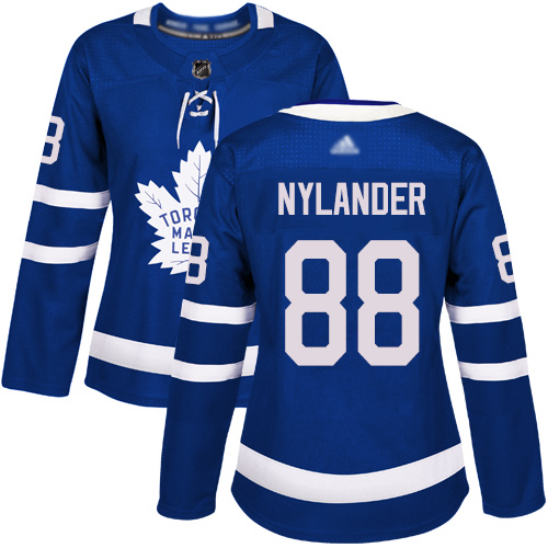 Adidas Maple Leafs #88 William Nylander Blue Home Authentic Women's Stitched NHL Jersey