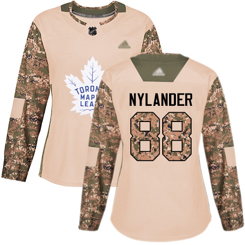 Adidas Maple Leafs #88 William Nylander Camo Authentic 2017 Veterans Day Women's Stitched NHL Jersey