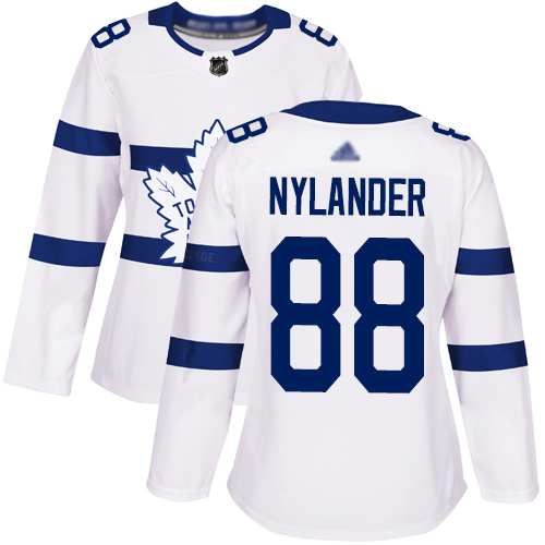 Adidas Maple Leafs #88 William Nylander White Authentic 2018 Stadium Series Women's Stitched NHL Jersey