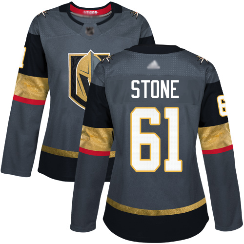Adidas Golden Knights #61 Mark Stone Grey Home Authentic Women's Stitched NHL Jersey