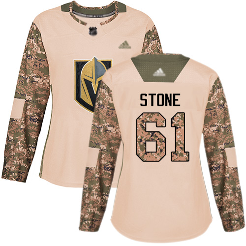 Adidas Golden Knights #61 Mark Stone Camo Authentic 2017 Veterans Day Women's Stitched NHL Jersey