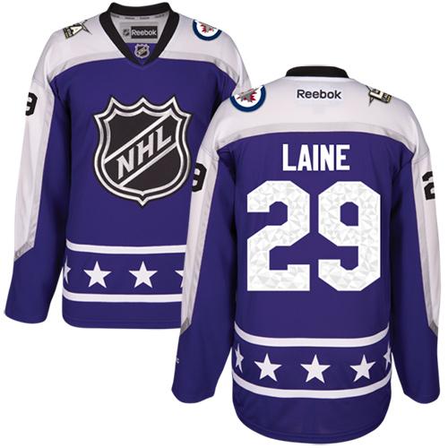 Jets #29 Patrik Laine Purple 2017 All-Star Central Division Women's Stitched NHL Jersey