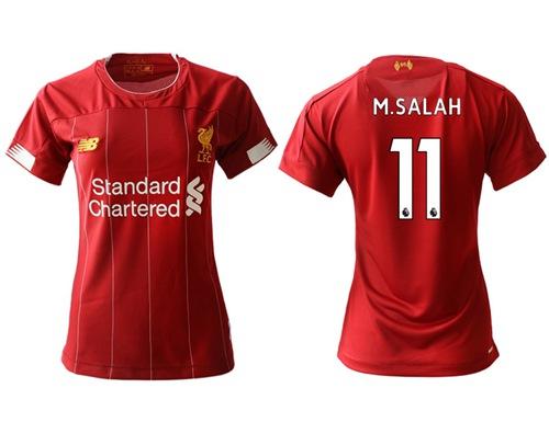 Women's Liverpool #11 M.Salah Red Home Soccer Club Jersey