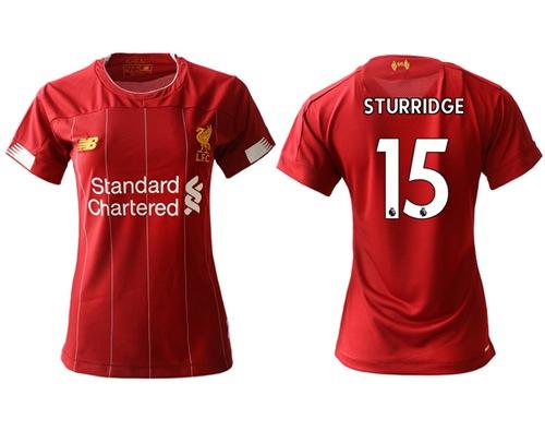 Women's Liverpool #15 Sturridge Red Home Soccer Club Jersey