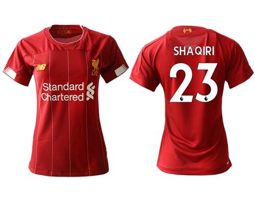 Women's Liverpool #23 Shaqiri Red Home Soccer Club Jersey