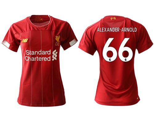 Women's Liverpool #66 Alexander-Arnold Red Home Soccer Club Jersey