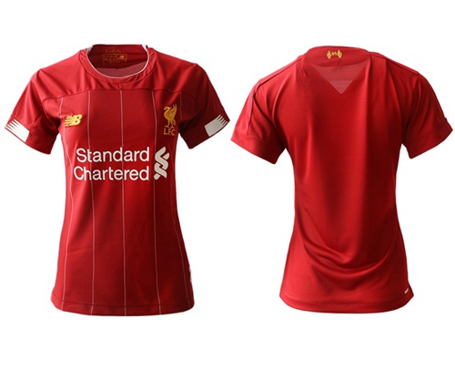 Women's Liverpool Blank Red Home Soccer Club Jersey