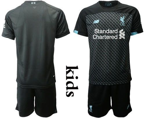 Liverpool Blank Third Kid Soccer Club Jersey