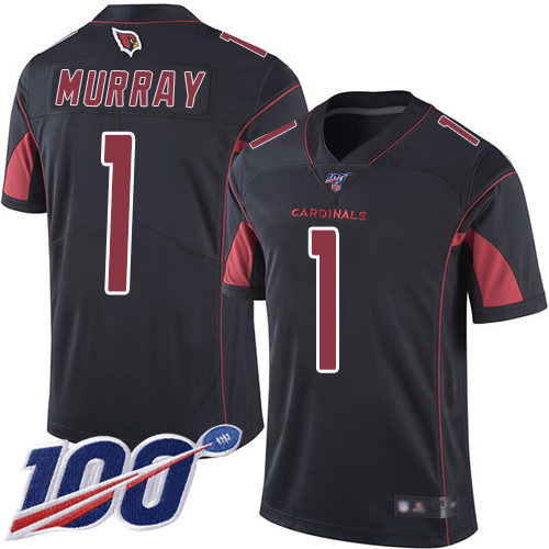 Nike Cardinals #1 Kyler Murray Black Youth Stitched NFL Limited Rush 100th Season Jersey