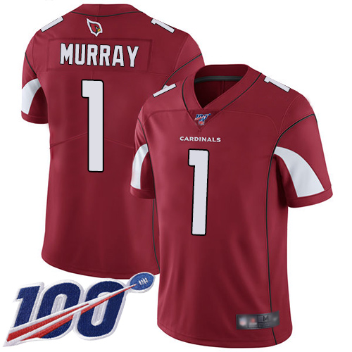 Nike Cardinals #1 Kyler Murray Red Team Color Team Color Youth Stitched NFL 100th Season Vapor Limited Jersey