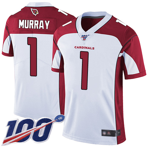 Nike Cardinals #1 Kyler Murray White Youth Stitched NFL 100th Season Vapor Limited Jersey