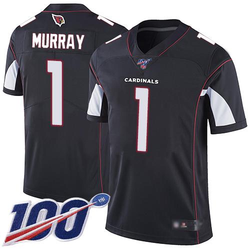 Nike Cardinals #1 Kyler Murray Black Alternate Youth Stitched NFL 100th Season Vapor Limited Jersey