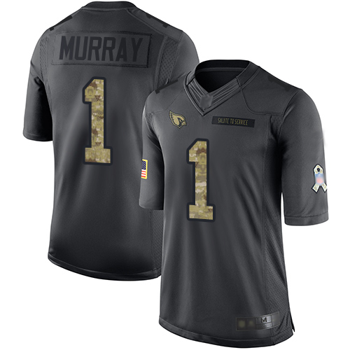Nike Cardinals #1 Kyler Murray Black Youth Stitched NFL Limited 2016 Salute to Service Jersey