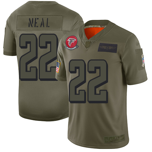 Nike Falcons #22 Keanu Neal Camo Youth Stitched NFL Limited 2019 Salute to Service Jersey