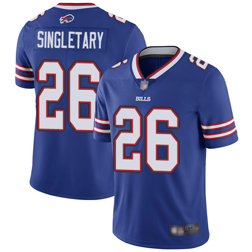 Nike Bills #26 Devin Singletary Royal Blue Team Color Youth Stitched NFL Vapor Untouchable Limited Jersey
