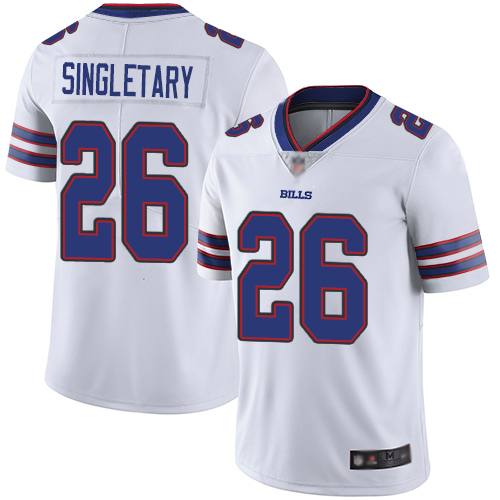 Nike Bills #26 Devin Singletary White Youth Stitched NFL Vapor Untouchable Limited Jersey
