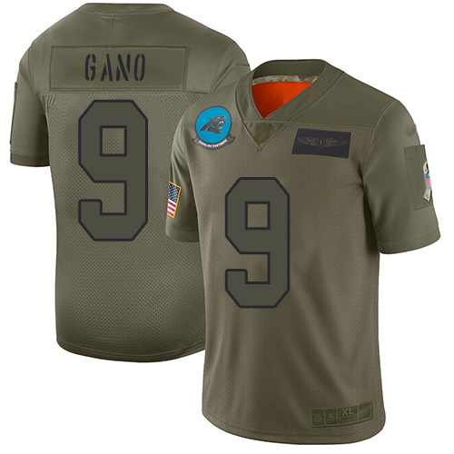 Nike Panthers #9 Graham Gano Camo Youth Stitched NFL Limited 2019 Salute to Service Jersey