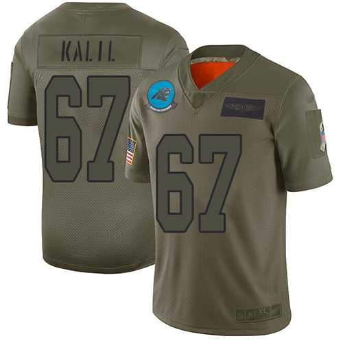 Nike Panthers #67 Ryan Kalil Camo Youth Stitched NFL Limited 2019 Salute to Service Jersey