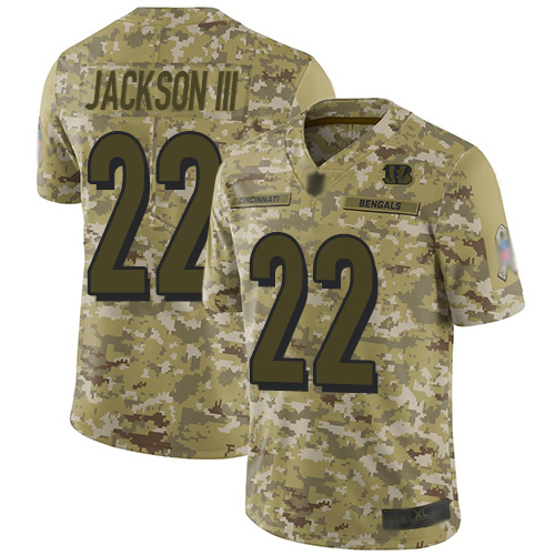 Nike Bengals #22 William Jackson III Camo Youth Stitched NFL Limited 2018 Salute to Service Jersey