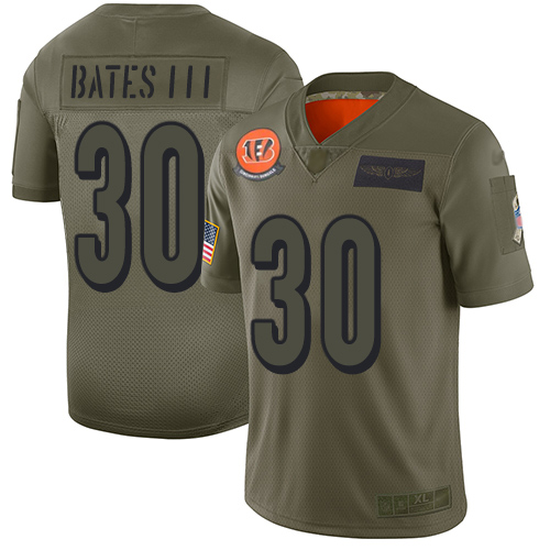 Nike Bengals #30 Jessie Bates III Camo Youth Stitched NFL Limited 2019 Salute to Service Jersey