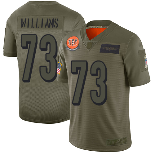 Nike Bengals #73 Jonah Williams Camo Youth Stitched NFL Limited 2019 Salute to Service Jersey