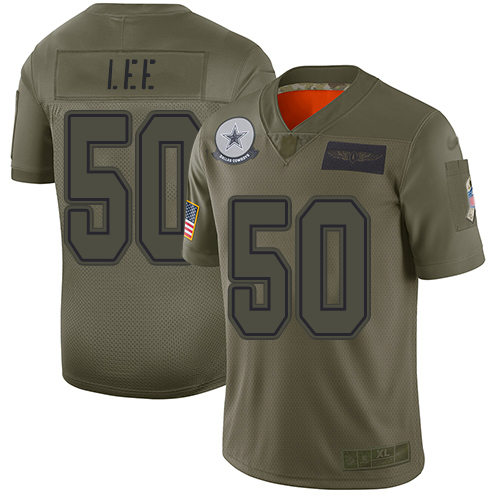 Nike Cowboys #50 Sean Lee Camo Youth Stitched NFL Limited 2019 Salute to Service Jersey