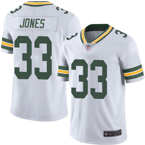Nike Packers #33 Aaron Jones White Youth Stitched NFL Vapor Untouchable Limited Jersey