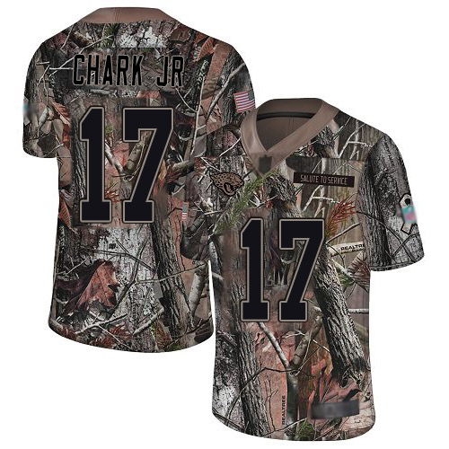 Nike Jaguars #17 DJ Chark Jr Camo Youth Stitched NFL Limited Rush Realtree Jersey