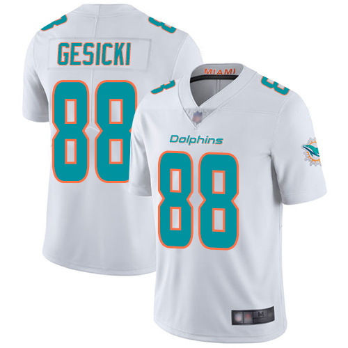 Nike Dolphins #88 Mike Gesicki White Youth Stitched NFL Vapor Untouchable Limited Jersey