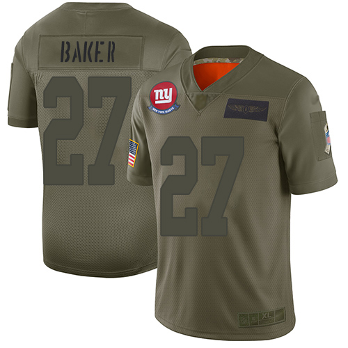 Nike Giants #27 Deandre Baker Camo Youth Stitched NFL Limited 2019 Salute to Service Jersey