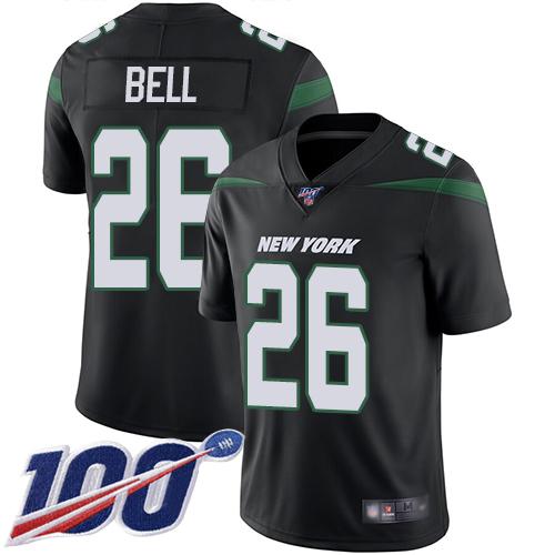 Nike Jets #26 Le'Veon Bell Black Alternate Youth Stitched NFL 100th Season Vapor Limited Jersey