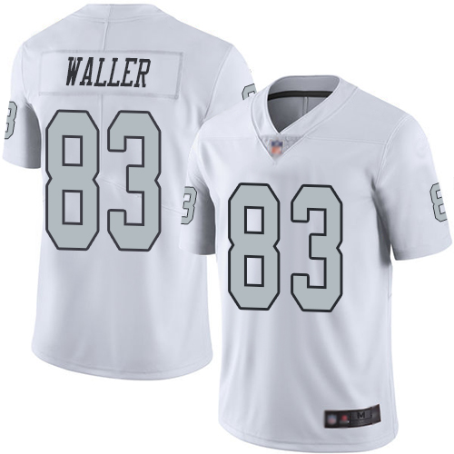 Nike Raiders #83 Darren Waller White Youth Stitched NFL Limited Rush Jersey