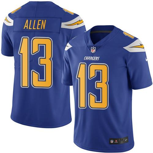 Nike Chargers #13 Keenan Allen Electric Blue Youth Stitched NFL Limited Rush Jersey