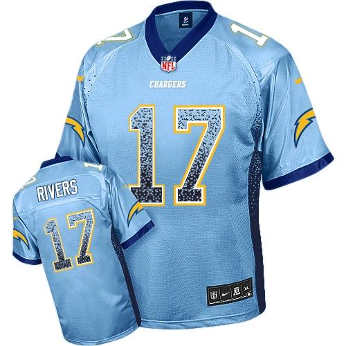 Nike Chargers #17 Philip Rivers Electric Blue Alternate Youth Stitched NFL Elite Drift Fashion Jersey